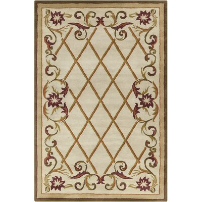 Baker Hand Tufted Wool Cream/Olive Green Area Rug