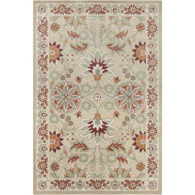 Baker Hand Tufted Wool Beige/Burgundy Area Rug Rug Size: 8 x 10