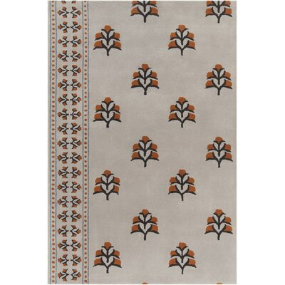 Baker Hand Tufted Wool Brown Area Rug Rug Size: 8 x 10