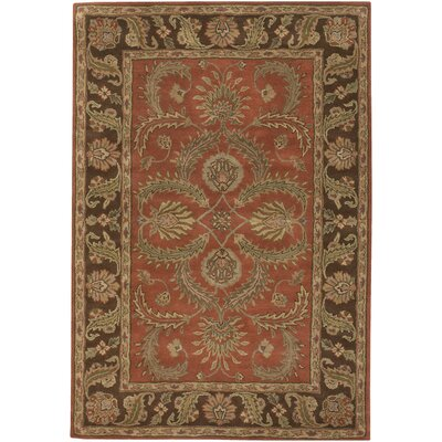 Brittin Hand Tufted Wool Rust/Brown Area Rug Rug Size: Rectangle 79 x 106