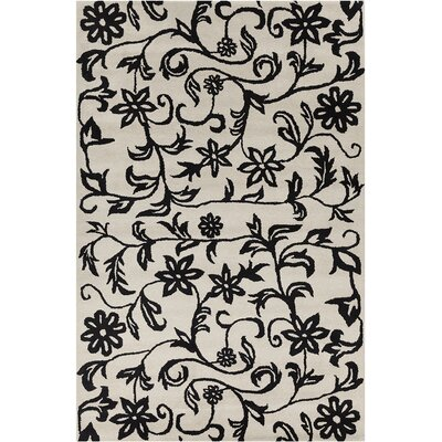 Baker Hand Tufted Wool Black/White Area Rug Rug Size: 5 x 76