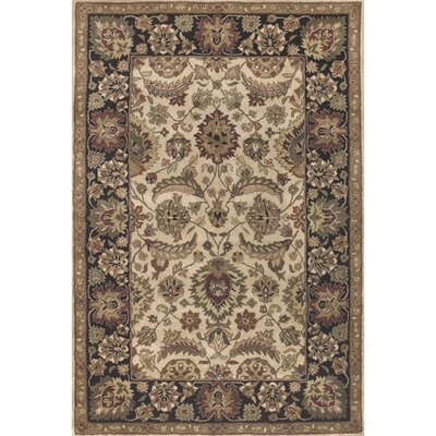 Brittin Brown/Tan Area Rug Rug Size: 79 x 106