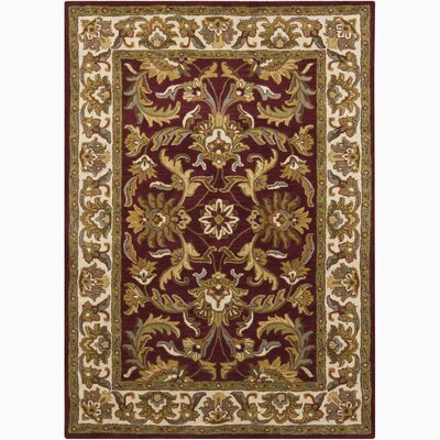 Bartz Red/Tan Sarouk Area Rug Rug Size: 5 x 76