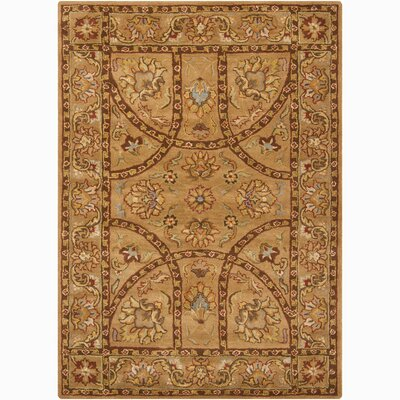 Bartz Gold Area Rug Rug Size: Rectangle 9 x 13