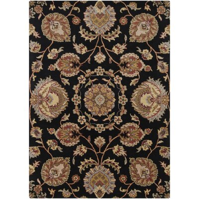 Bartz Black Area Rug Rug Size: Rectangle 9 x 13