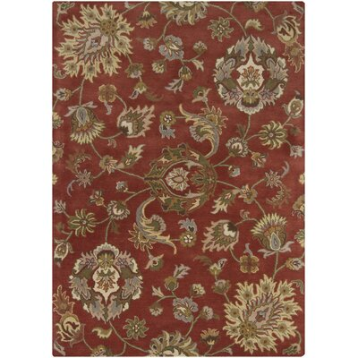 Bartz Rust Area Rug Rug Size: Rectangle 5 x 7