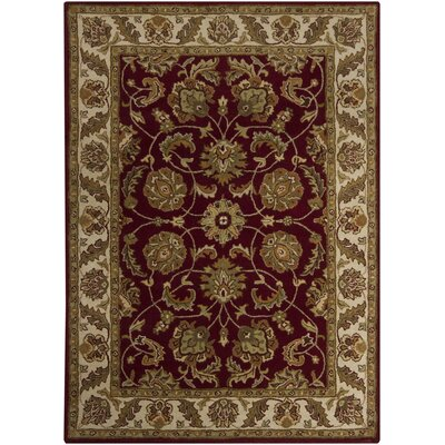 Bartz Burgundy Area Rug Rug Size: Rectangle 7 x 10