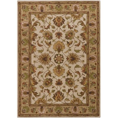 Boise Beige/Brown Area Rug Rug Size: 5 x 7