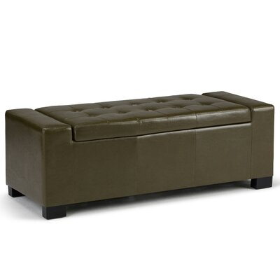 Marengo Storage Ottoman Upholstery Color: Deep Olive