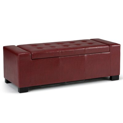 Marengo Ottoman Upholstery Color: Radicchio Red