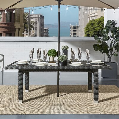 Rathdowney Dining Table Finish: Charcoal