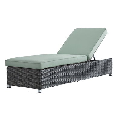 Rathdowney Lounge Chair with Cushion Fabric: Spa Blue