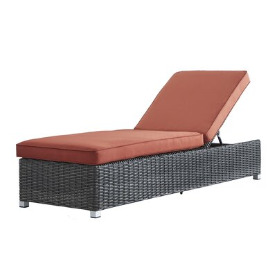 Rathdowney Lounge Chair with Cushion Fabric: Red