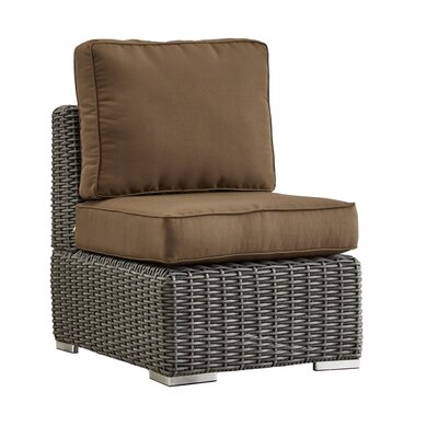 Rathdowney Chair with Cushions Fabric: Brown, Finish: Charcoal