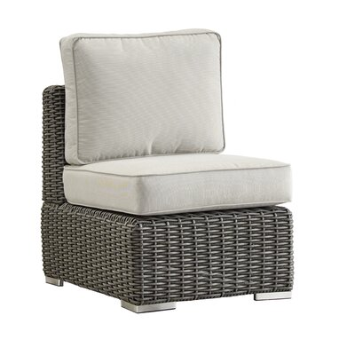 Rathdowney Chair with Cushions Fabric: Beige, Finish: Charcoal