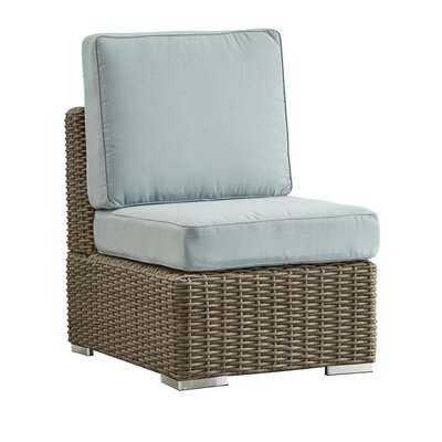 Rathdowney Chair with Cushions Fabric: Spa Blue, Finish: Mocha