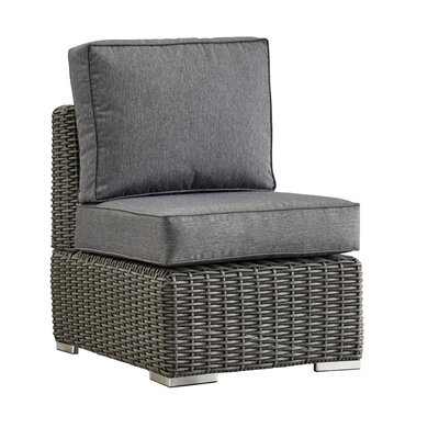 Rathdowney Chair with Cushions Fabric: Gray, Finish: Charcoal
