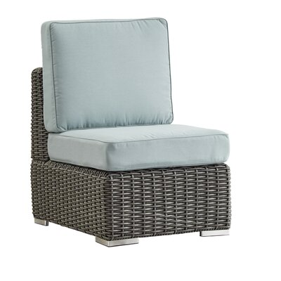 Rathdowney Chair with Cushions Fabric: Spa Blue, Finish: Charcoal
