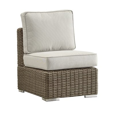 Rathdowney Chair with Cushions Fabric: Beige, Finish: Mocha