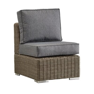 Rathdowney Chair with Cushions Fabric: Gray, Finish: Mocha