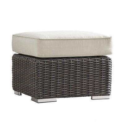 Rathdowney Ottoman with Cushion Fabric: Brown, Finish: Charcoal