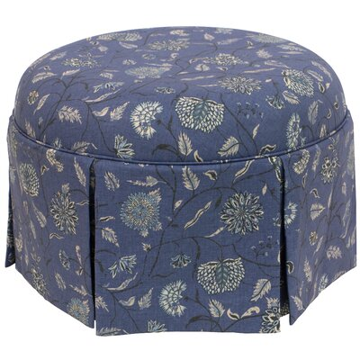 Blenheim Round Skirted Ottoman Color: Blue