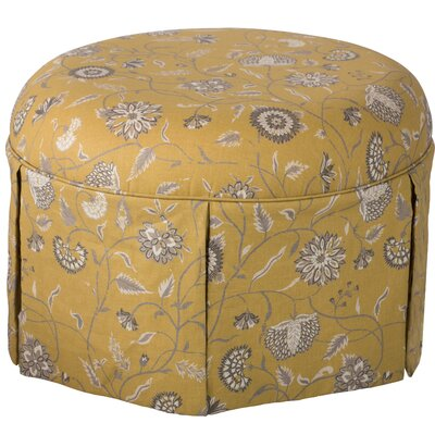 Blenheim Pouf Ottoman Color: Mustard Gold/Blue
