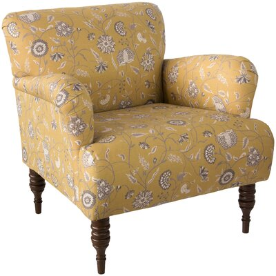 Linnet Patterned Armchair Upholstery: Dahlia Yellow OGA