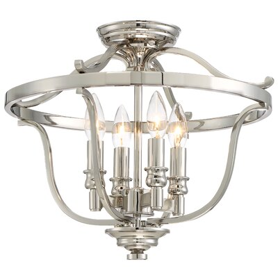 Ameche 4-Light Semi-Flush Mount