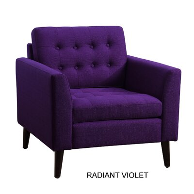 Alderbrook Tufted Arm Chair Upholstery: Radiant Violet