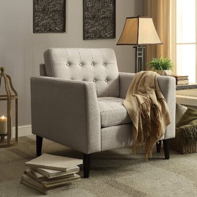 Alderbrook Tufted Arm Chair Upholstery: Beige