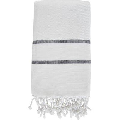 Sumner Stripe Bath Towel Color: White/Black