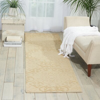 Cedarwood Hand-Woven Linen Area Rug Rug Size: Rectangle 2'3'' x 7'6''