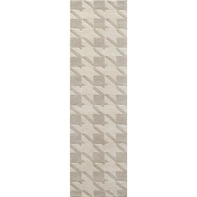 Wehmeyer Hand-Tufted Gray Area Rug Rug Size: Runner 23 x 8