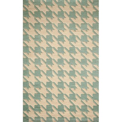 Wehmeyer Hand-Tufted Light Blue Area Rug Rug Size: 3'6