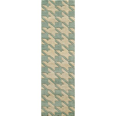 Wehmeyer Hand-Tufted Light Blue Area Rug Rug Size: Runner 23 x 8
