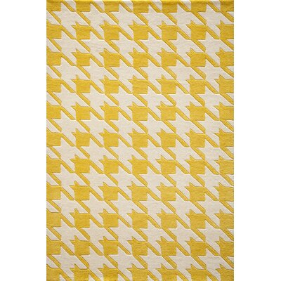 Elmore Hand-Tufted Yellow Area Rug Rug Size: 5 x 8