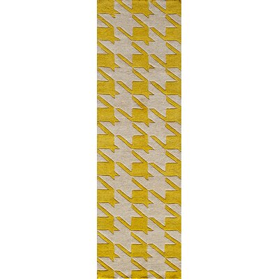 Wehmeyer Hand-Tufted Yellow Area Rug Rug Size: Runner 23 x 8