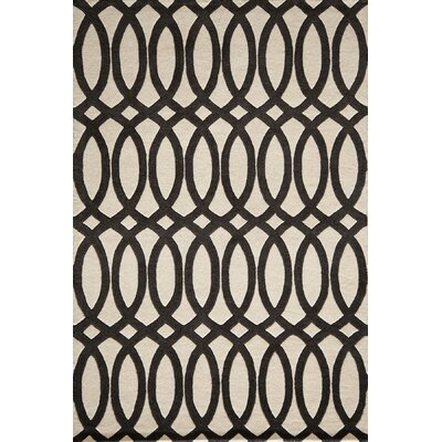 Elmore Hand-Tufted Black Area Rug Rug Size: Rectangle 36 x 56