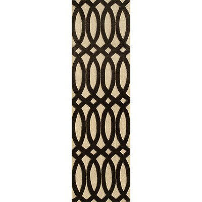 Elmore Hand-Tufted Black Area Rug Rug Size: Runner 23 x 8