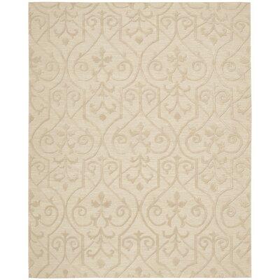 Cedarwood Hand-Woven Sand Area Rug Rug Size: 79 x 99