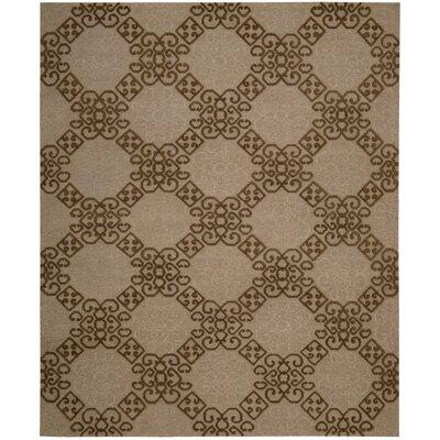 Cedarwood Hand-Woven Almond Area Rug Rug Size: 79 x 99