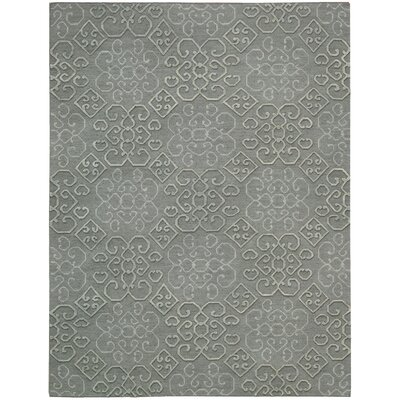 Cedarwood Hand-Woven Slate Area Rug Rug Size: Rectangle 56 x 75