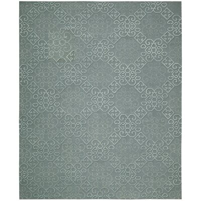 Cedarwood Hand-Woven Slate Area Rug Rug Size: Rectangle 79 x 99