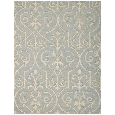 Cedarwood Hand-Woven Blue Area Rug Rug Size: Rectangle 79 x 99