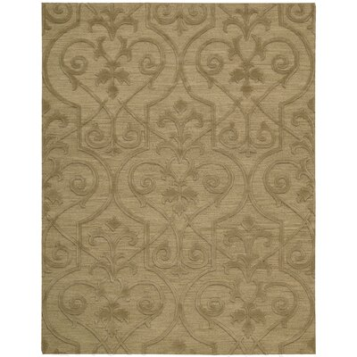 Cedarwood Hand-Woven Khaki Area Rug Rug Size: Rectangle 99 x 139