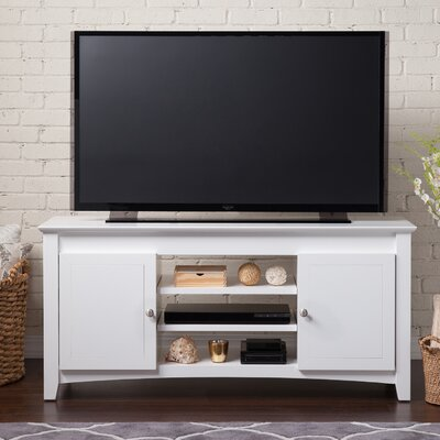 Pinckney TV Stand with Adjustable Shelves Finish: White
