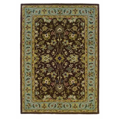 Beyers Hand-Tufted Brown Area Rug Rug Size: 5 x 7