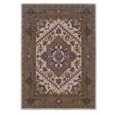 Bienville Hand-Tufted Brown Area Rug Rug Size: 5 x 7