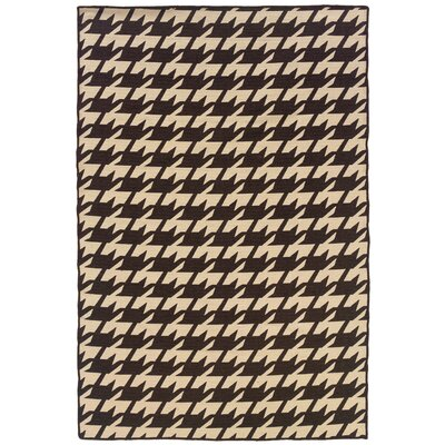 Destinee Hand-Tufted Brown/Beige Area Rug Rug Size: 5 x 8